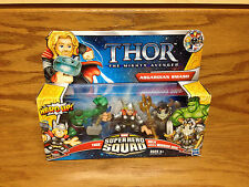 Thor Hulk and Warrior Odin Mighty Avenger ASGARDIAN SMASH Action Figure Set