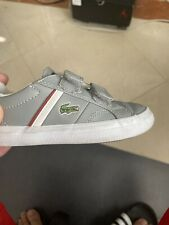 Pre-owned Lacoste Infant Grey White Red Size 7 US
