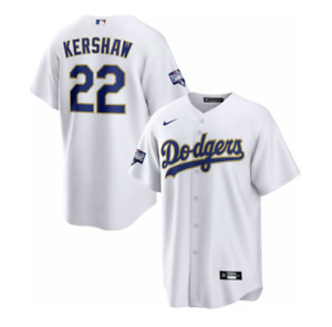 LOS ANGELES DODGERS NIKE GOLD PROGRAM JERSEY CLAYTON KERSHAW REPLICA MEDIUM REAL