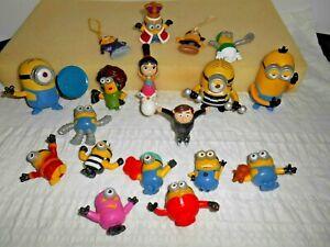 Minions Figures Lot PVC Minion Characters Ornaments McDonald's Bob Unicorn