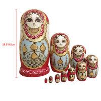 Doll House Decor Wooden Russian Nesting Dolls Babushka Toys Kids Gift #5