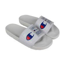 Champion патентным ведомством спортсмена CM100144M мужские белые шнуровки слайды сандалии туфли