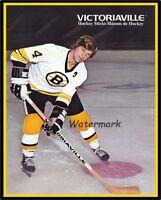 NHL Boston Bruins Bobby Orr Victoriaville Hockey Sticks AD Color  8 X 10 Photo