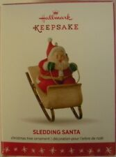 Hallmark 2016 Ornament -  Sledding Santa - NEW