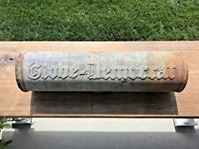 Vintage Metal Embossed Newspaper Tube St. Louis Globe-Democrat *Rare*