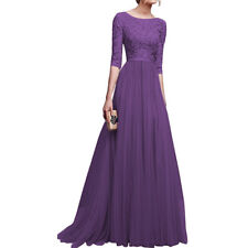 Women Vintage Lace Long Maxi Dress Cocktail Evening Wedding Party Formal Dresses