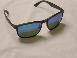 BRAND NEW RAY BAN 4264 601S/A1 MATTE BLACK / BLUE CHROMANCE POLARIZED 58/18/145