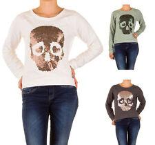 Taillenlange Damen-Pullover & -Strickware aus Baumwolle