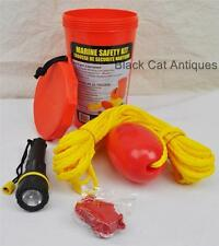 Marine Safety Kit by KWIK TEK LL-2 Line/Float Whistle Flashlight Bailing bucket