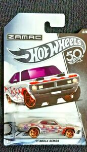 2018 HOT WHEELS '71 DODGE DEMON 50TH ANNIVERSARY ZAMAC #6/8 WITH FLAMES