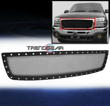 2003-2006 GMC SIERRA 1500 UPPER RIVET STAINLESS STEEL BLACK MESH GRILLE INSERT