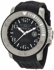 Invicta Mens 1071 Sea Hunter Automatic Black Dial Black Rubber Watch