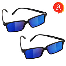 Spy Glasses for Kids (Set of 3) See Behind You Sunglasses with Rear View Mirrors