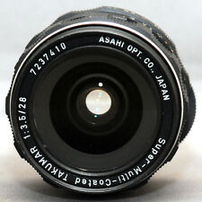 M42 f/3.5 28mm ASAHI SMC TAKUMAR SCREW Mount Yashica Pentax Zenit Lens CLEAN