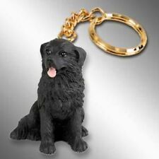 Newfoundland Dog Tiny One Resin Keychain Key Chain Ring