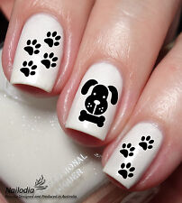 Puppy Paw Bone dog Nail Art Sticker Water Transfer Decal Tattoo wrap 33