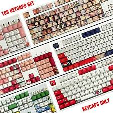 108 PBT Keycap Set OEM Profile Keycaps ANSI Fit MX Switches Mechanical Keyboard