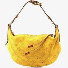 Auth Louis Vuitton Onatah Yellow Perforated Suede Shoulder Bag #3133L24