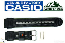 CASIO PRW-1000LJ Pathfinder Black Leather Watch Band PRG-80L PRW-1100 w/ 2 pins