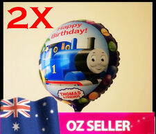 2 x Foil Helium Thomas the Train & Friends Brithday Party Balloons -  45cm NEW