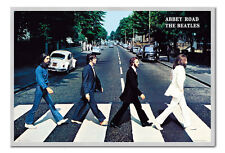 The Beatles Poster Abbey Road Silver Framed Ready To Hang Frame Free P&P