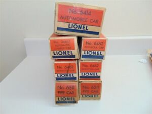 Vintage Lionel Freight Car Box Lot1 6462,3461x,6414,6511,2458,3656,6456,6465-110