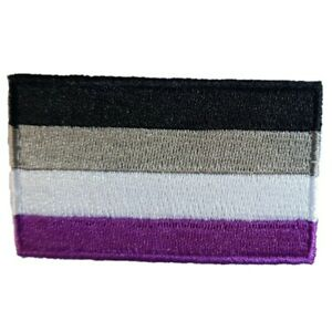 A Sexual - Gay PRIDE LGBT Rainbow Flag Iron On Patch Sew On Transfer ASEXUAL