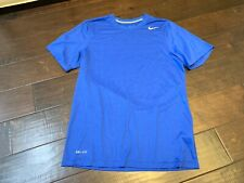 Nike Dri Fit Blue Athletic Workout Running Shirt - Size Small