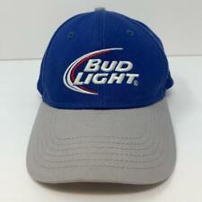Bud Light Embroidered Adjustable Snapback Hat Blue Gray OSFA