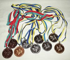 """9 Special Olympics Medals Winter Sports Gold Silver Bronze 2"""" D"""