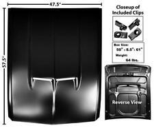 """67-68 Mustang """" Eleanor """" Style STEEL Hood w/ Ram Air Scoop Holes Functional NEW"""
