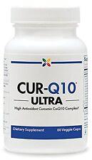 Stop Aging Now CUR-Q10 ULTRA Curcumin CoQ10 Complex Veggie Capsules 1 Pack