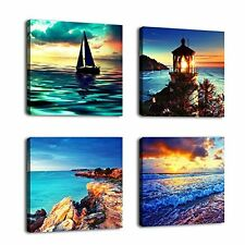 [Framed] Sunset Seascape Ocean Nature Canvas Art Prints Picture Wall Home Decor