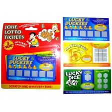 Pack Of 3 Joke Lotto Tickets - Scratch Lottery Prank Fake Trick Winning Gag