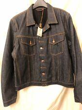 Nudie Perry Lined Organic Denim Jacket L Large NWT