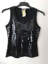 Marks & Spencer Black  Sequin Top Size 12 *BNWT*