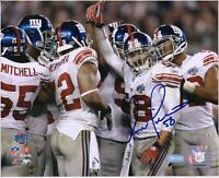 """Antonio Pierce New York Giants Signed 8"""" x 10"""" Super Bowl XLII Huddle Photo"""