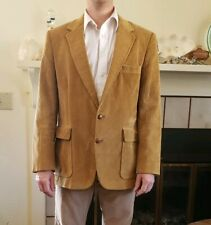 Levis Vtg Mens 42R Tan Corduroy 2 Button Satin Lined Western Blazer Jacket