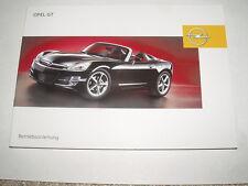 Bedienungsanleitung Opel GT, Ausgabe 12/2006 (neu) #bagt1206