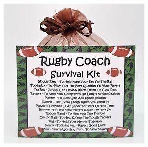 Rugby Coach Survival Kit - Fun Novelty Gift & Card Alternative / Keepsake