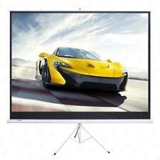 New listing 100'' Projector 16:9 Movie Tripod Projection Screen Portable Pull-Up Matte White