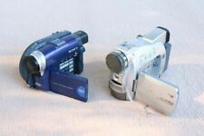 Pair vintage Camcorders Palm for parts Repair Sony DCR-DVD101 Canon ZR70 ASIS FY