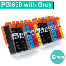 12x Ink Cartridge PGI650 CLI651 XL For Canon Pixma MG7560 MG6360 MG7160 MG7560