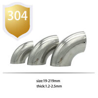 """3""""inch/76mm OD Stainless Steel Car Exhaust Weld 90Degree Bend Elbow Pipe Fitting"""