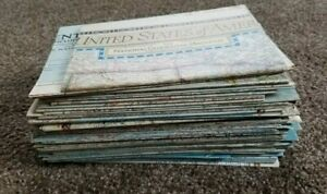 Large Lot of 62 NATIONAL GEOGRAPHIC MAPS Vintage 1950's & 1960's NO DUPLICATES
