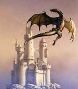 DRAGON AND CASTLE CROSS STITCH CHART BN! (D032)