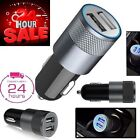 UNIVERSAL TWIN 2 PORT USB 12V DUAL CAR CHARGER CIGARETTE SOCKET LIGHTER New AU