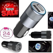 Universal Twin 2 Port USB 12V/24V Car Cigar Socket Lighter Charger Adaptor B7
