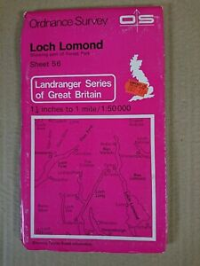 Landranger 56 Map Loch Lomond Forest Park O S Ordnance Survey 1980