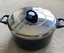 T-FAL Ultrabase Non-stick 8-Quart Stock Pot with Vented Lid  -Blue